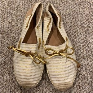 Women's Gold/Cream Sperry Topsider